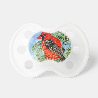 赤い(鳥)ショウジョウコウカンチョウArt2 おしゃぶり