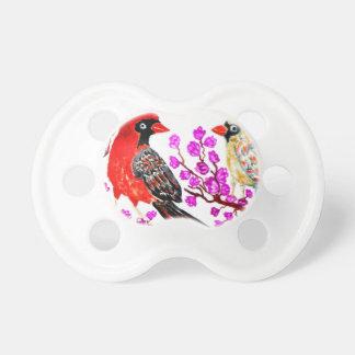 赤い(鳥)ショウジョウコウカンチョウArt3 おしゃぶり