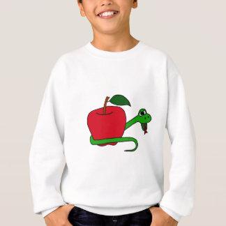 赤いAppleのまわりで包まれたなおもしろいな蛇 スウェットシャツ