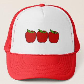 赤いAppleのデザインの野球帽 キャップ