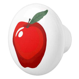 赤いAppleのドア・ノブ セラミックノブ