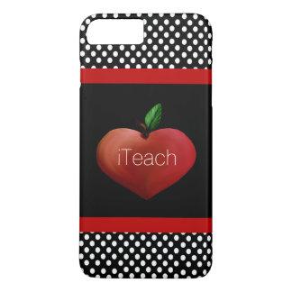 赤いAppleのハートの先生のiPhone 7のプラスの場合 iPhone 8 Plus/7 Plusケース