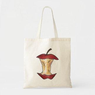 赤いAppleの中心によってかまれるりんごのフルーツのトートバック トートバッグ