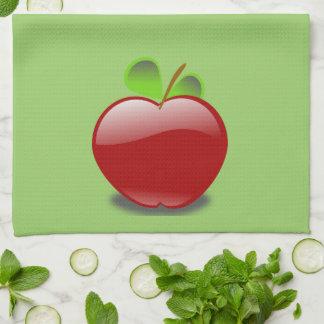 赤いAppleの台所タオル キッチンタオル