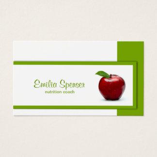 赤いAppleの栄養士カードとのシンプルな白 名刺
