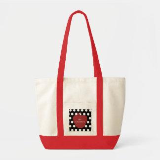 赤いApple及び水玉模様の先生 トートバッグ