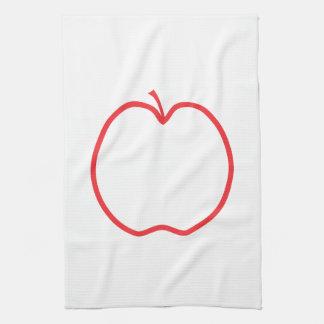 赤いApple キッチンタオル