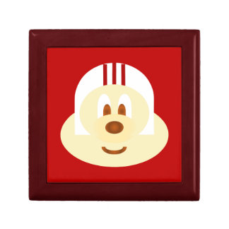 赤いBg及び白いヘルメットの鮑鮑のマホガニーのギフト用の箱 ギフトボックス