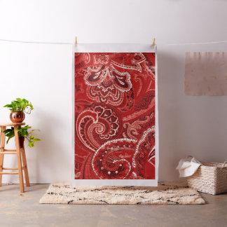 赤いBohoのシックなレトロの腰回りが大きなペイズリーのバンダナ ファブリック