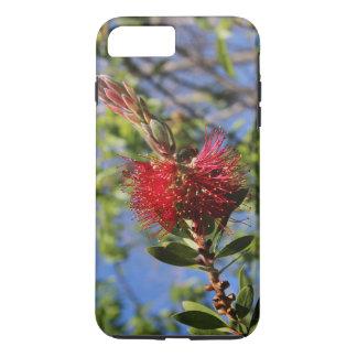 赤いBottlebrushの花の電話箱 iPhone 8 Plus/7 Plusケース