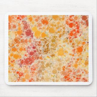 赤いBubblicious XIおよびオレンジの抽象芸術 マウスパッド