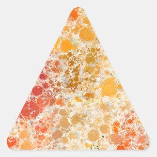 赤いBubblicious XIおよびオレンジの抽象芸術 三角形シール