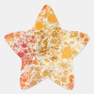 赤いBubblicious XIおよびオレンジの抽象芸術 星シール