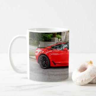 赤いC7シボレー・コルベット コーヒーマグカップ