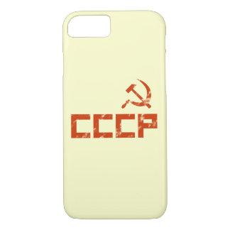 赤いCCCPのソ連国旗 iPhone 8/7ケース