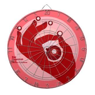 赤いChaKationの投げ矢板 ダーツボード