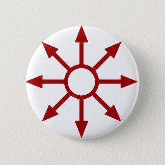 赤いChaote Sigil 5.7cm 丸型バッジ