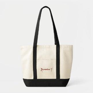 赤いdg7ロゴの白いバッグ トートバッグ