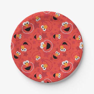 赤いElmoはパターンに直面します ペーパープレート