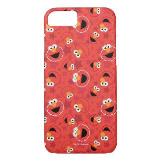赤いElmoはパターンに直面します iPhone 8/7ケース