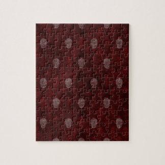 赤いFallnのビクトリアンなスカル ジグソーパズル