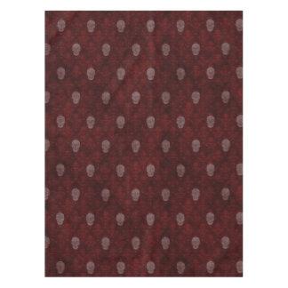 赤いFallnのビクトリアンなスカル テーブルクロス