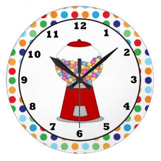 赤いGumball機械柱時計 ラージ壁時計