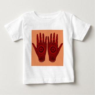 赤いHamsas ベビーTシャツ