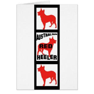 赤いHeelerの映画フィルムのストリップ カード