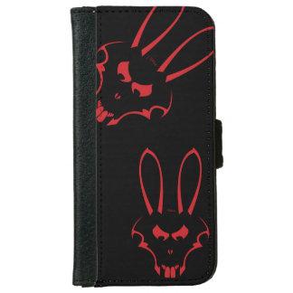 赤いJ.Rabbitのロゴの電話箱 iPhone 6/6s ウォレットケース