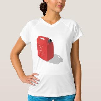 赤いJerricanレディース能動態のティー Tシャツ