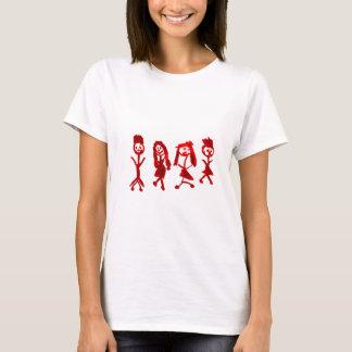 赤いKayleeの私の家族2013 Art1a Hoboken博物館 Tシャツ
