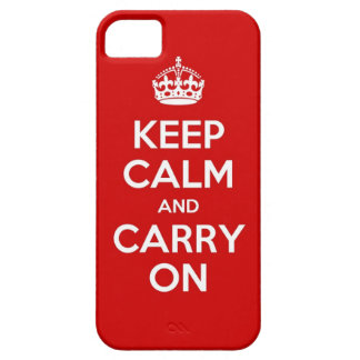 赤いKeep Calm and Carry OnのiPhone 5の箱 iPhone SE/5/5s ケース