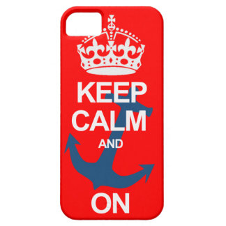 赤いKeep Calm and Carry OnのSailngのiPhoneの箱 iPhone SE/5/5s ケース