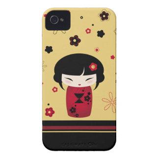 赤いKokeshi Case-Mate iPhone 4 ケース