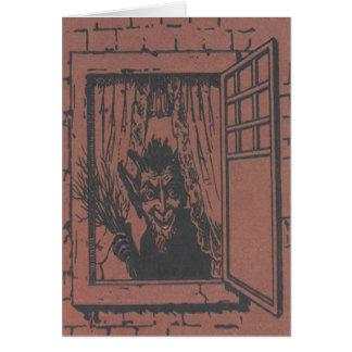 赤いKrampusの窓スイッチ カード