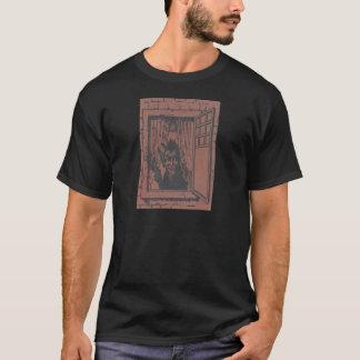 赤いKrampusの窓スイッチ Tシャツ