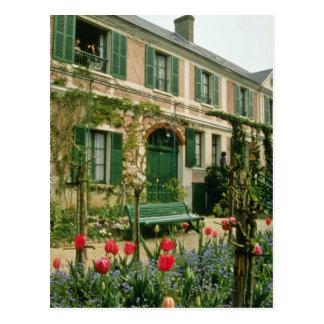 赤いMonetの家および庭、Giverny、北Fr ポストカード