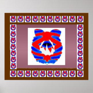 赤いnの青いダイヤモンドのリース: 楽しむなnの共有の喜び ポスター