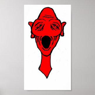 赤いOlie -希望の歌-ファインアートポスター プリント