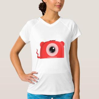 赤いOsoレディース能動態のティー Tシャツ