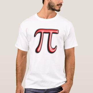 赤いPiの記号Pi日のTシャツ Tシャツ