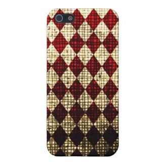 赤いPixDezinesの道化師+白い iPhone SE/5/5sケース