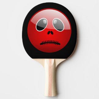 赤いPongの相棒の顔文字 卓球ラケット