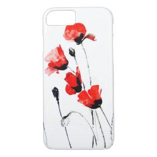 赤いpopies iPhone 8/7ケース