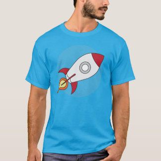 赤いRocketship Tシャツ
