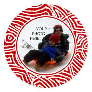 赤いScribbleprintsのクリスマスカード カード