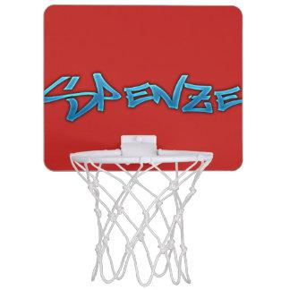 赤いSpenzeの小型バスケットボールたが ミニバスケットボールゴール