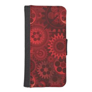 赤いSteampunk iPhoneSE/5/5sウォレットケース