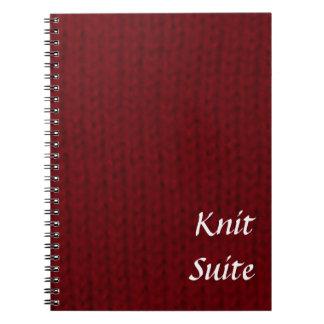 赤いStockinette ノートブック